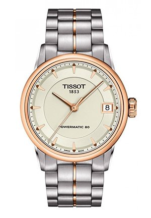 Luxury Automatic Two-tone Ivory Lady Watch T0862072226101, 33mm