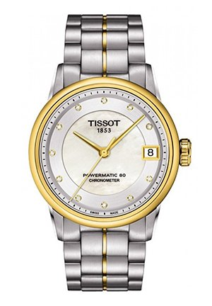 Luxury Automatic Ladies COSC Watch - Two Tone with Diamonds T0862082211600, 33mm