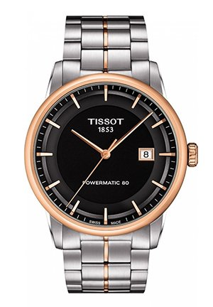 Luxury Automatic Men's Two-tone Stainless Steel Black Watch T0864072205100, 41mm