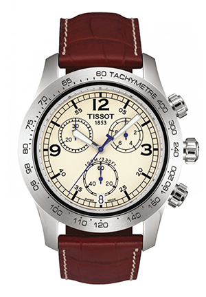 V8 Men's Ivory Chronograph Sport Watch T36131672, 42.5mm