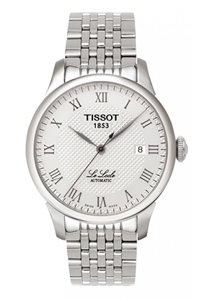 Le Locle Men's Silver Automatic Classic Watch T41148333, 39.5mm