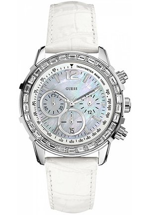 Women's Chronograph White Croco Leather Strap 41mm