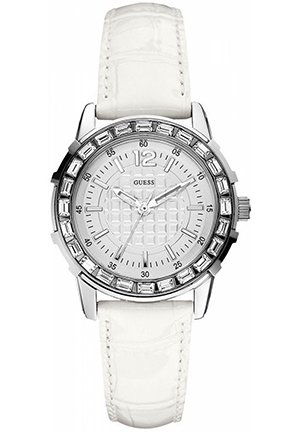 Women's White Croco-Grain Leather Strap 35mm