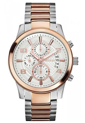 GUESS Men's Two-Tone Stainless-Steel Quartz 44mm