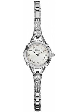 Silver-Tone Petite Crystal Watch 22mm