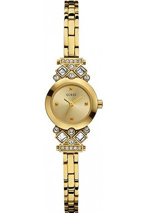 GUESS Women's Exquisite Petite Crystal Gold-Tone Watch