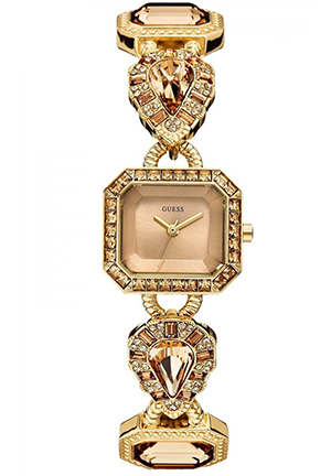 GUESS GUESS Women's Gold-Tone Jeweled Watch 23mm