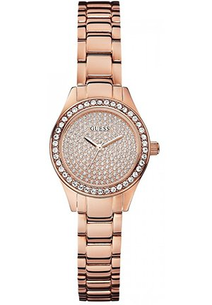 GUESS Women's Analog Display Quartz Rose Gold Watch 27mm