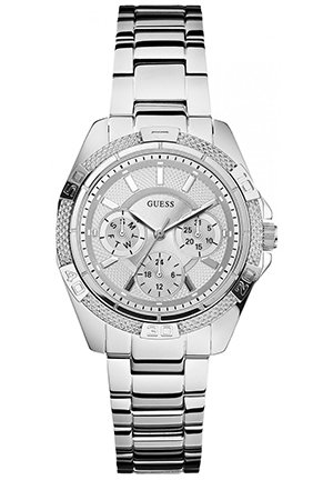 GUESS GUESS Watch, Women's Silver-Tone Bracelet 36mm