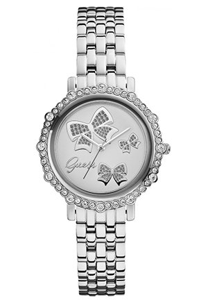 GUESS Women's Analog Display Quartz Silver Watch 34mm