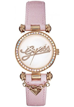 GUESS Women's Analog Display Quartz Pink Watch 32mm