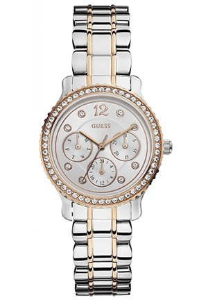 GUESS Women's Analog Display Quartz Two Tone Watch 34mm