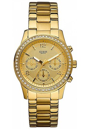Feminine Contemporary Chronograph Watch in Goldtone 38mm