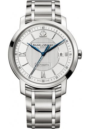 BAUME & MERCIER MEN'S CLASSIMA SILVER WATCH, 39MM