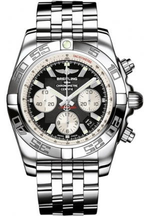 Breitling Men's Chronomat B01 Black Chronograph Dial Watch