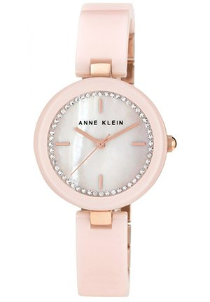 Anne Klein Watch, Women's Light Pink Ceramic Bangle Bracelet 31mm