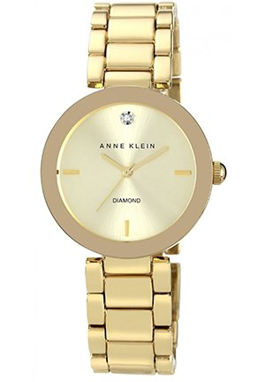 Anne Klein Watch, Women's Diamond Accent Gold-Tone Bracelet 32mm