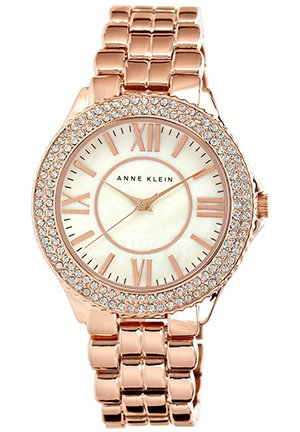 Anne Klein Watch, Women's Rose Gold-Tone Bracelet 38mm