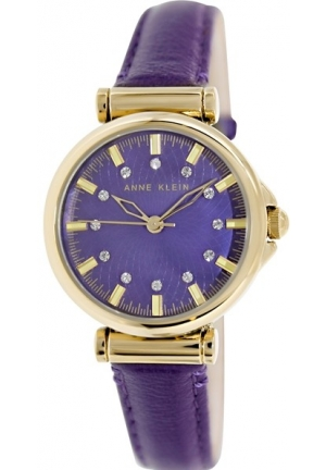 Anne Klein Women's Purple Leather Analog Quartz Watch