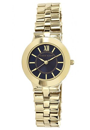 Anne Klein Women's Gold-Tone Adjustable Bracelet Watch 28mm