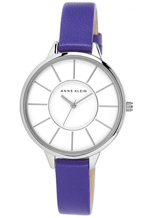 Women's Purple Leather Strap Watch 38mm