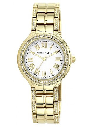 Women's Crystal-Accent Gold-Tone Bracelet Watch 32mm
