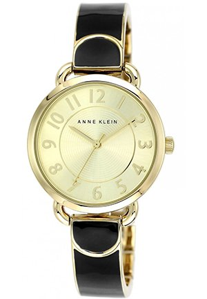 Women's Black and Gold-Tone Bangle Bracelet Watch 32mm