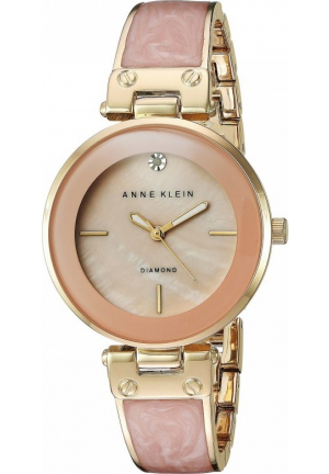 ANNE KLEIN BLUSH MOTHER OF PEARL WATCH 34MM