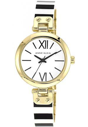 Women's Black and White Bangle Bracelet Watch 34mm
