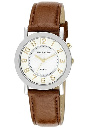Women's Brown Leather Strap Watch 34mm