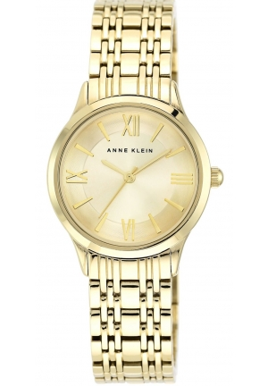 Anne Klein Women's Gold-Tone Bracelet Watch 30mm Watch