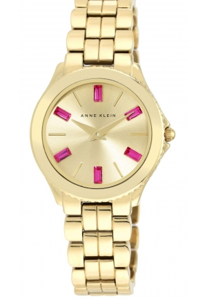 Anne Klein Women's Gold-Tone Bracelet Watch 32mm