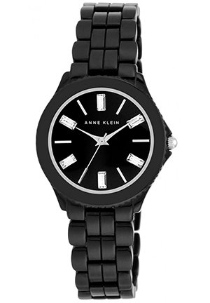 Anne Klein Women's Black-Tone Bracelet Watch 32mm