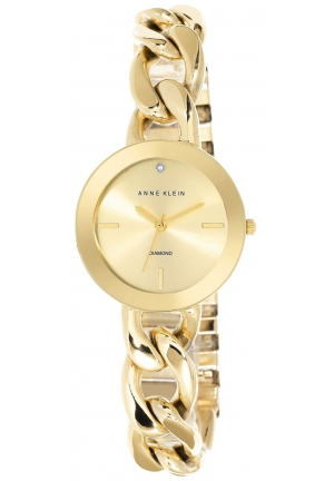 Anne Klein Women's Diamond Accent Gold-Tone Bracelet Watch 32mm