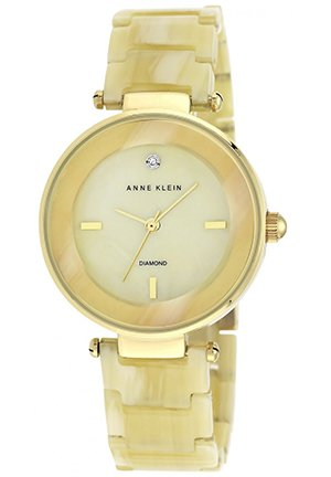 Anne Klein Women's Diamond Accent Horn Adjustable Bracelet Watch 33mm