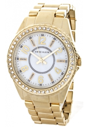 Anne Klein Women's Mother of Pearl Gold Tone Watch 30 MM