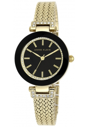 Anne Klein Women's Gold-Tone Mesh Bracelet Watch 30mm