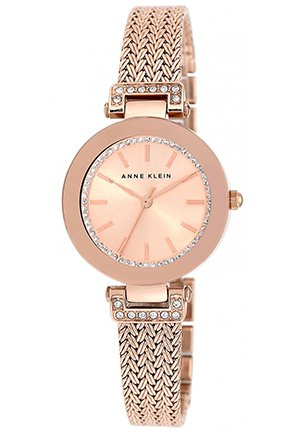 Anne Klein Women's Rose Gold-Tone Mesh Bracelet Watch 30mm