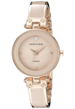 Anne Klein Women's  Diamond-Accented  and Rose Gold-Tone
