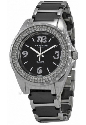 Akribos XXIV Ceramic Ladies Watch AK514BK