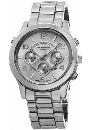 Akribos XXIV Silvertone Ladies Watch AK648SS
