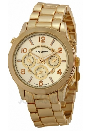 Akribos XXIV Gold-tone Ladies Watch AK648YG