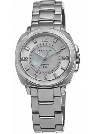 Akribos XXIV Mother of Pearl Dial Stainless Steel Ladies Watch
