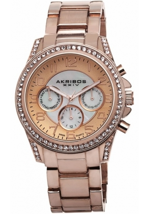 Akribos XXIV Rose Gold-Tone Ladies Watch AK683RG