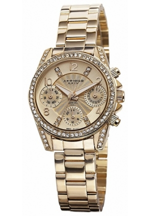 Akribos XXIV Gold-tone Alloy Ladies Watch AK710YG