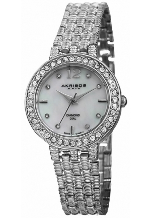 Akribos XXIV Silver-tone Alloy Ladies Watch AK757SS
