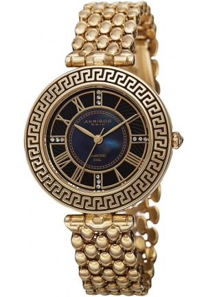 Akribos XXIV Amazon Exclusive Women's Gold-Tone Watch