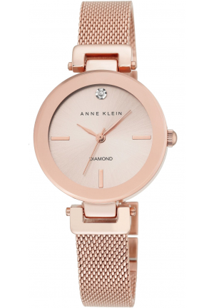 Rose Gold Plated Mesh Bracelet Watch 30mm