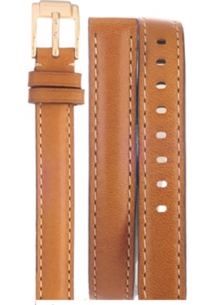 Michael Kors Strap MK2256 Runway Slim Strap Brown Double Wrap Leather Strap 12mm