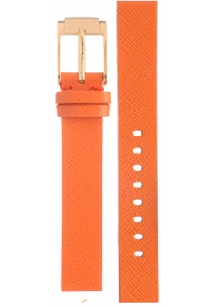 Michael Kors Strap MK2270 Taylor Mini Strap Orange Leather Strap 14mm